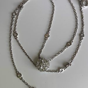 Jewelry - Diamond by the yard with Diamond Cluster Pendant